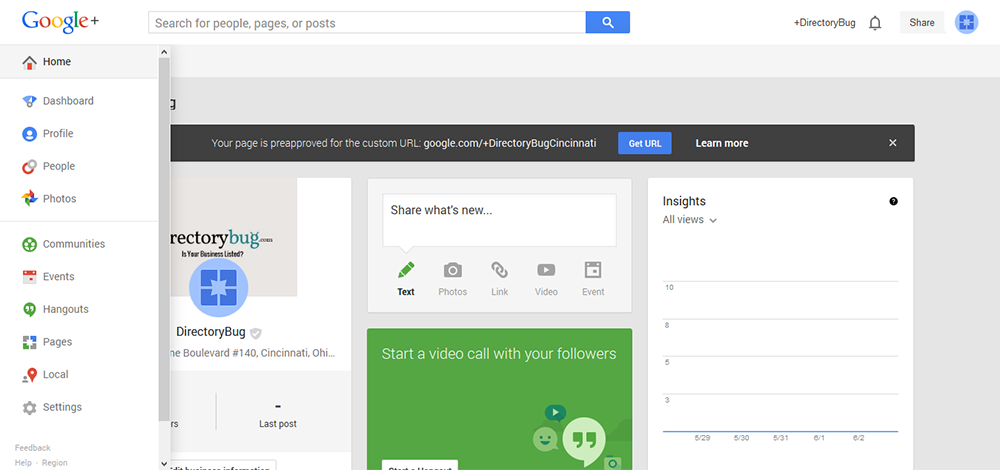 Google + Page Management